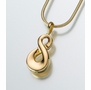 14kt Gold Infinity Cremation Jewelry