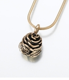 14kt Gold Rose Cremation Jewelry