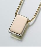 14kt Gold Sliding Rectangle Cremation Jewelry