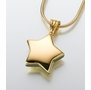 14kt Gold Star Cremation Jewelry