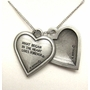 2-Part Pewter Heart Memorial Pendant Necklace