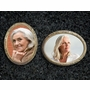 Oval Ceramic Picture Plaque With Bronze Frame