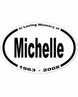 3-Line Custom Memorial Sticker