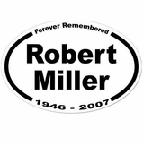 4-Line Custom Memorial Sticker