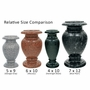 4 x 10 Granite Cemetery Flower Vase - 28 Colors