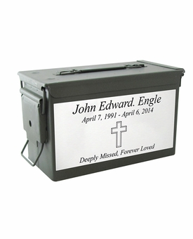 $49 Army M2A1 Ammo Can Cremation Urn