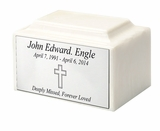 $49  Pearl Oversize Cultured Marble Cremation Urn