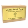 $49 Solid Maple Wood Cremation Urn