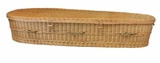 "5' 9"" Eco Friendly Woven Willow Biodegradable Pet Casket"