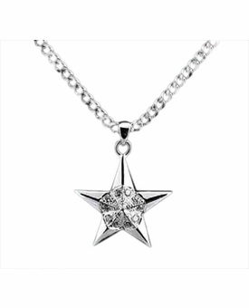 5 Pointed Star Sterling Silver Cremation Jewelry Necklace
