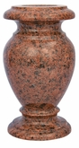 5 x 9 Granite Cemetery Flower Vase - 28 Colors