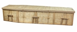 "6' 5"" Eco Friendly 6-Point Woven Bamboo Wicker Coffin"