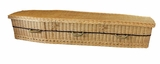 "6' 5"" Eco Friendly 6-point Woven Willow Wicker Coffin"