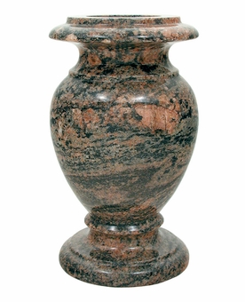 6 x 10 Granite Cemetery Flower Vase - 28 Colors