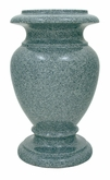 7 x 12 Granite Cemetery Flower Vase - 28 Colors
