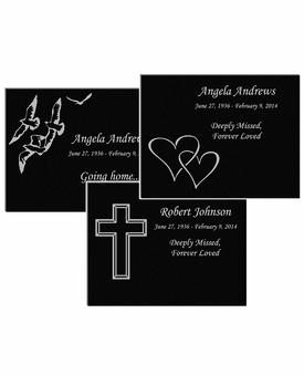 7 x 5 Design Your Own Laser-Engraved Plaque Black Granite Memorial