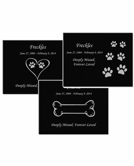 7 x 5 Design Your Own Pet Laser-Engraved Plaque Black Granite Memorial
