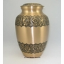 "9"" Bronze with Flowers Cremation Urn - Engravable"