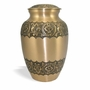 """9"""" Bronze with Flowers Cremation Urn - Engravable"""
