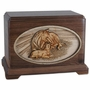 A Mothers Love with 3D Inlay Oak Wood Urn