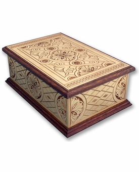 Acclaim Hand Carved Wooden Cremation Urn