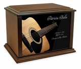 Acoustic Guitar Eternal Reflections Wood Cremation Urn - 3 Sizes