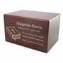 Adult Cherry Finish MDF Wood Cremation Urn