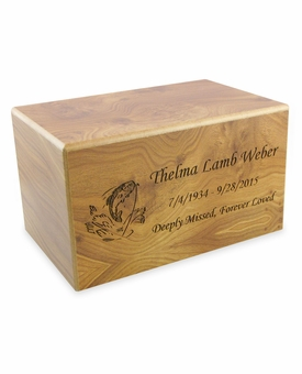 Adult Natural Finish MDF Wood Cremation Urn