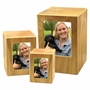 Adult Natural Finish MDF Wood Photo Cremation Urn