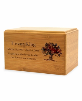 Adult Renewable Bamboo Cremation Urn