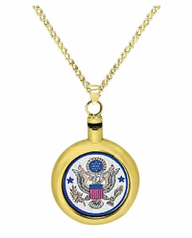 Air Force Brass Cremation Jewelry Necklace