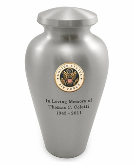 Air Force Emblem Pewter Arlington Cremation Urn - Engravable
