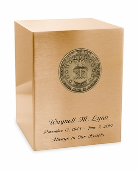 Air Force Medallion Seamless Bronze Cremation Urn