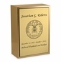 Air Force Sheet Bronze Inset Snap-Top Niche Cremation Urn with Engraved Plate