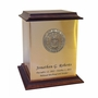 Air Force Sheet Bronze With Walnut Trim Snap-Top Cremation Urn