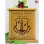 Air National Guard Engraved Wood Cremation Urn