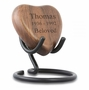 All My Love Walnut Heart Keepsake Urn