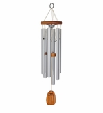 Amazing Grace Silver Finish Memorial Wind Chime Cremation Urn