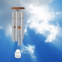 Amazing Grace Silver Finish Memorial Wind Chime Cremation Urn with Engraving