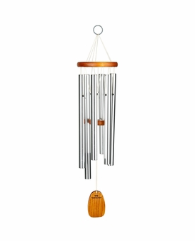Amazing Grace Silver Finish Wind Chime with Engraving