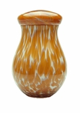 Amber Capri Hand Blown Glass Cremation Urn