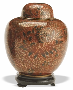 Amber Keepsake Medium Cloisonne Cremation Urn