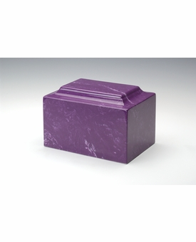 Amethyst Classic Cultured Marble Cremation Urn Vault - Engravable