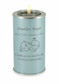 Angel Baby Pearl Blue Tealight Memory Keepsake Candle Infant or Child Cremation Urn