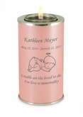 Angel Baby Pearl Pink Tealight Memory Keepsake Candle Infant or Child Cremation Urn
