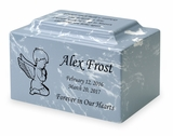 Angel Boy Small Classic Infant or Child Cremation Urn - Engravable