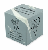 Angel Boy Wedgewood Small Cube Infant Cremation Urn - Engravable