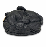 Angel Dog Black Pet Cremation Urn
