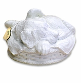 Angel Dog White Pet Cremation Urn