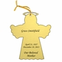 Angel Double-Sided Memorial Ornament - Engraved - Gold